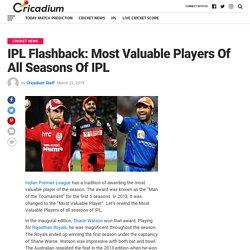 IPL Flashback: Most Valuable Players Of All Seasons Of IPL
