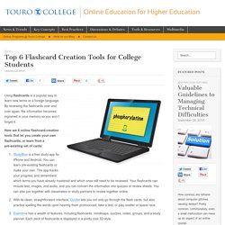 Top 6 Flashcard Creation Tools for College Students - Online Education Blog of Touro College