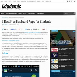 3 Best Free Flashcard Apps for Students