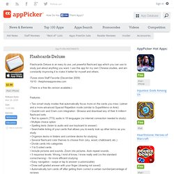 Flashcards Deluxe - Apppicker apps 307840670
