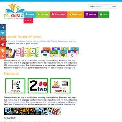 ESL Flashcards , English for Kids Vocabulary Flashcards