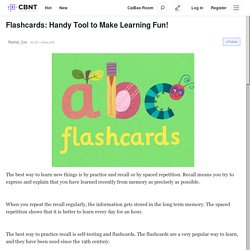 Flashcards: Handy Tool to Make Learning Fun!