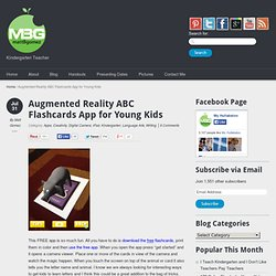 Augmented Reality ABC Flashcards App for Young Kids
