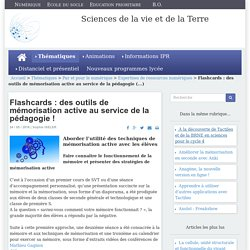 Flashcards : des outils de mémorisation active au service de la pédagogie !