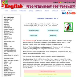 Christmas worksheets, Christmas flashcards, printable Christmas games, Christmas cards, Christmas party supplies and lesson plans materials to print