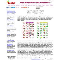 Free Phonics Resources, phonics flashcards, phonics worksheets, phonics games and phonics printables