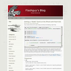 "s Blog » Blog Archive » Getting a ""Shake"" Event on the iPhone with Flash CS5"