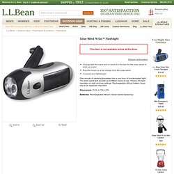 Solar Wind 'N Go Flashlight: Flashlights at L.L.Bean