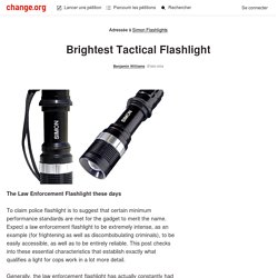 Simon Flashlights: Brightest Tactical Flashlight