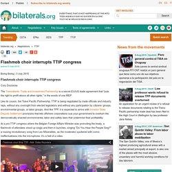 Flashmob choir interrupts TTIP congress