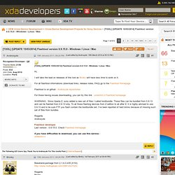 [TOOL/X10] [UPDATE 26/02/2012] Flashtool version 0.6.8.0 - Windows / Linux