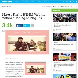 Make a Flashy HTML5 Website Without the Coding or Plug-Ins