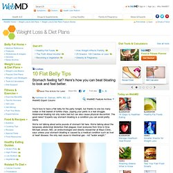 10 Flat Belly Tips: How to Beat Bloating