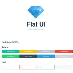 Flat UI - Free Bootstrap Framework and Themes