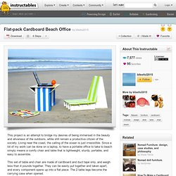 Flat-Pack Cardboard Beach Office