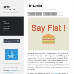 Flat Design « Blog Tuto