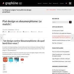 Flat-design contre Skeumorphisme