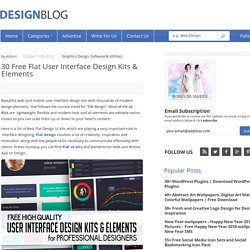 Flat User Interface Design Kits