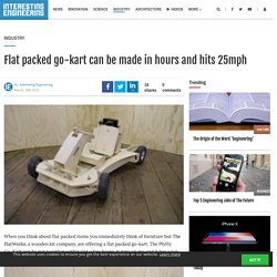Flat packed go-kart, make it in hours, drives at 25mph