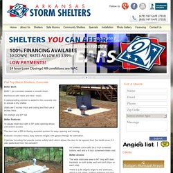 Flat Top Storm Shelters: Concrete