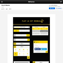 Flat UI Mobile on Behance