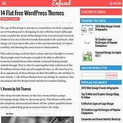 14 Flat Free WordPress Themes