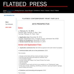 Flatbed Press - Resources