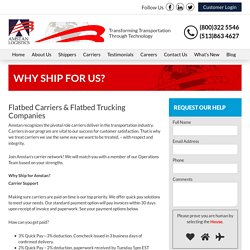 Flatbed Trucking Companies - Amstan