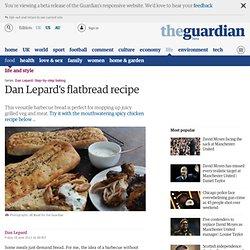 Flatbread and harissa honey chicken recipe