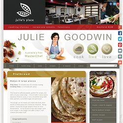 Flatbread - Julie Goodwin recipe