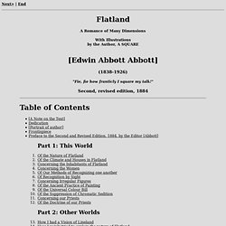 Flatland, by E. A. Abbott, 1884