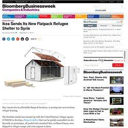Ikea Sends Its New Flatpack Refugee Shelter to Syria