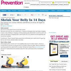 2-Week Belly Flattening Routine