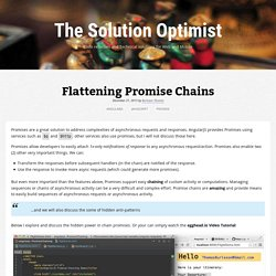 Flattening Promise Chains