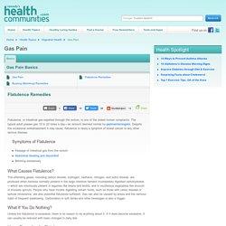 Flatulence Remedies - Gas Pain