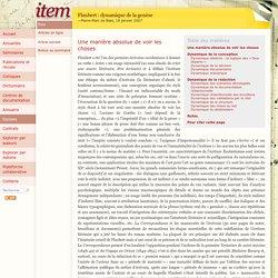 Flaubert : dynamique de la genèse