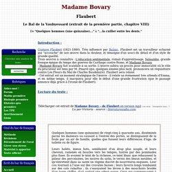 Madame Bovary - Flaubert - Le Bal de la Vaubyessard (extrait de la première partie, chapitre VIII)