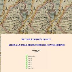FLAVIUS JOSEPHE : Guerre des Juifs