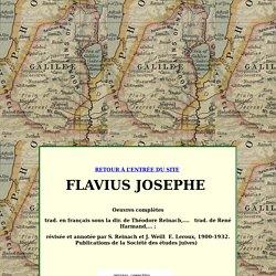 Flavius Josèphe, table des matières