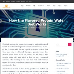 How the Flavored Protein Water Diet Works