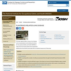 Flavorings-Related Lung Disease - NIOSH Workplace Safety and Health Topic