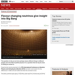 Flavour changing neutrinos give insight into Big Bang