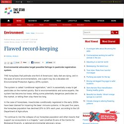 Flawed record-keeping - Environment
