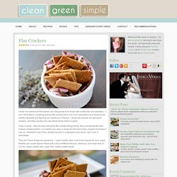 Flax Crackers