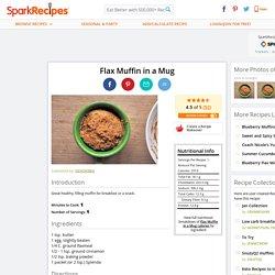 Flax Muffin in a Mug Recipe