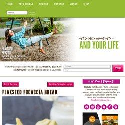 Flaxseed Focaccia Bread