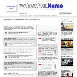 Fle Jeu De Rôle : Page 1/10 : Rechercher.Name