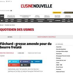 USINE NOUVELLE 26/11/07 Fléchard : grosse amende pour du beurre frelaté
