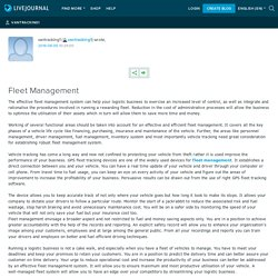 Fleet Management: vantracking1
