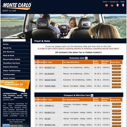 Our Fleet Rates, Car Rental Amman Jordan, Car Leasing in Jordan